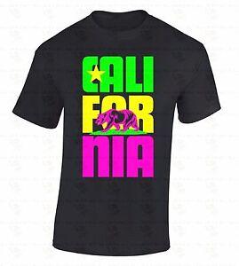 Cali-For-Nia-Bear-T-SHIRT-California-Republic-Retro-State-Colorful-Gift-Shirt