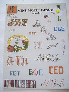 1984-Graphworks-Mini-Motif-Designs-Alphabets-Cross-Stitch-Pattern-Booklet-MANY