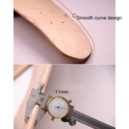 """DIY 24/""""//27/"""" Skateboards Skate Deck Board 7Layer Maple Blank Double Concave US"""