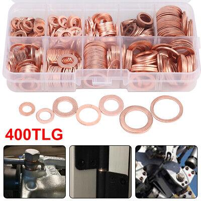 200x Dichtring Sortiment Set Kupfer Dichtungen Öl Kupferringe Kupferscheiben GR
