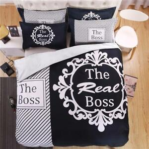 Funny Bedding Set for Couple Black and White His Hers ...