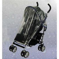 Buggy Regenschutz Kunststoff, Klett, Buggy Kinder Wagen Regen Schutz Haube, Rot