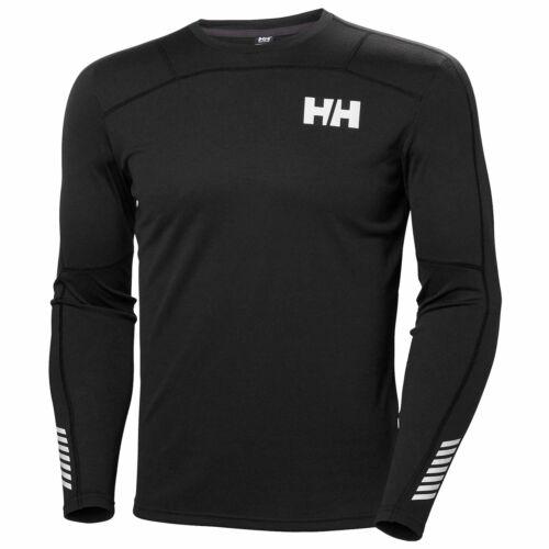 Black Helly Hansen Mens Lifa Active Long Sleeve Crew