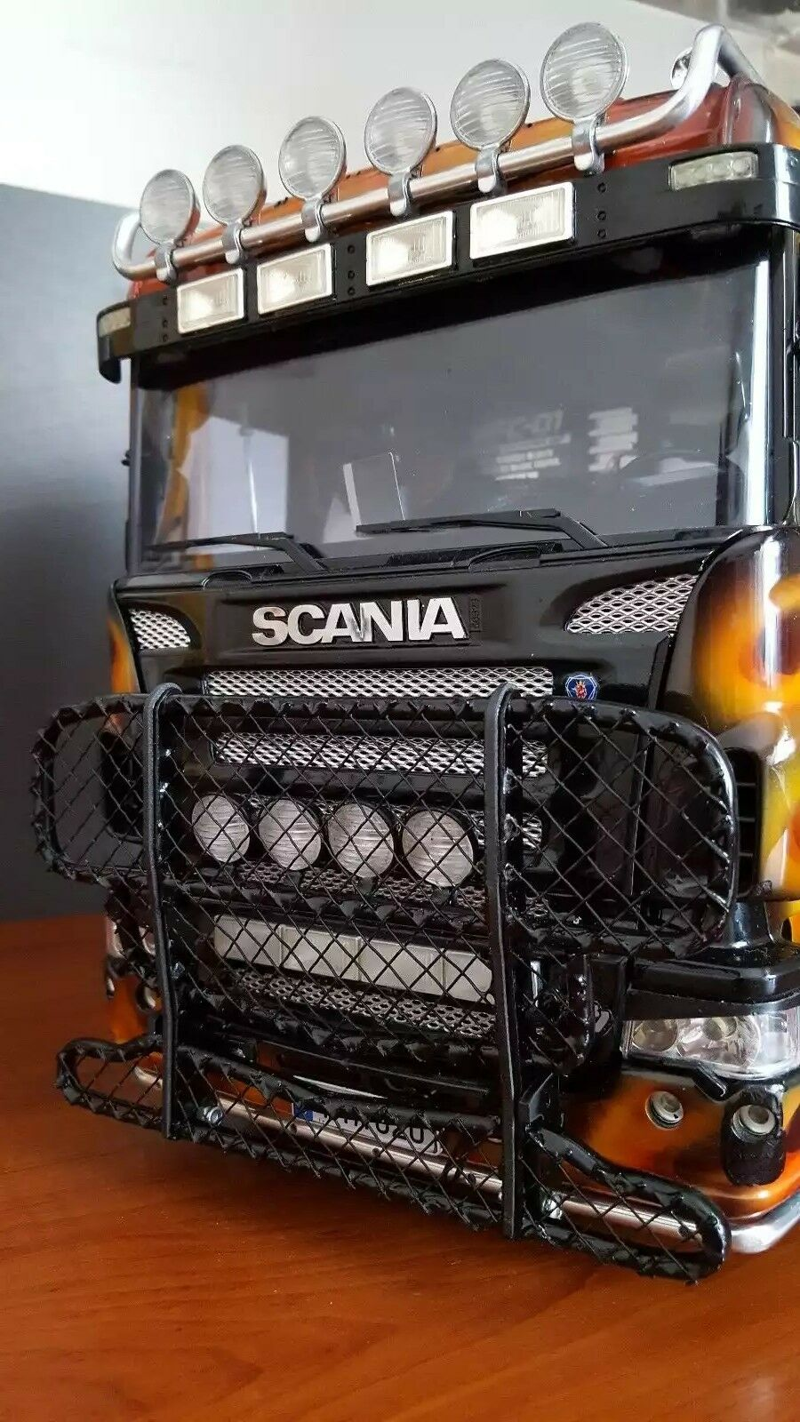 1 14 Tamiya Scania T-cab Metal Light Animal Guard V4