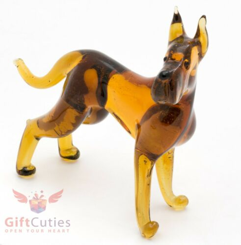 Art Blown Glass Figurine of the Great Dane dog