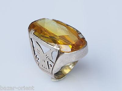 antik orientalische massive silber Ring Zirkonia Afghanistan persien  nr-9
