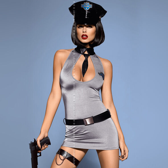 Sexy Ladies Police Woman Cop Uniform Fancy Dress Costume Hen Night Party Outfit