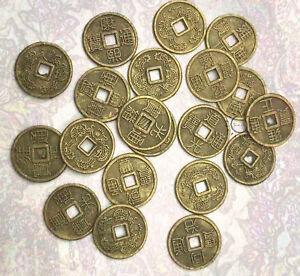 10x Original Chinesische Glücksmünzen Feng Shui