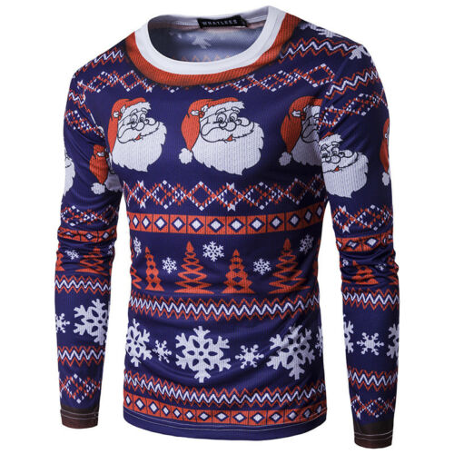 Damen Herren Ugly Sweater Karneval Santa Party Pullover Karneval Sweatshirt