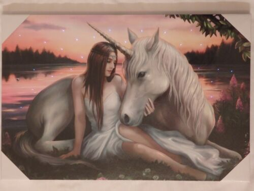 Anne Stokes Limited Exclusive Edition Fibre Optic Canvas Choice of 2