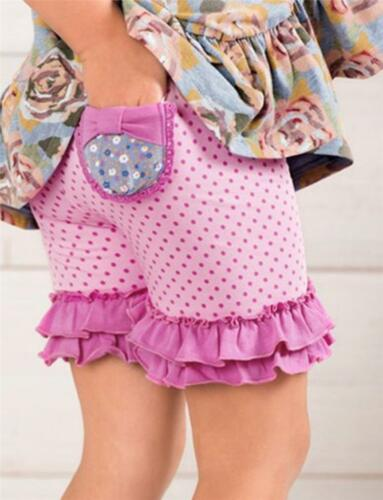 Matilda Jane CAPTURE THE FLAG Shorties 2 Ruffled Pocket Purple Dot Shorts NWT