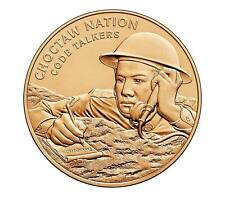 USA MEDAL BU CHOCTAW NATION TRIBE CODE TALKERS BRONZE MEDAL 1.5 INCH