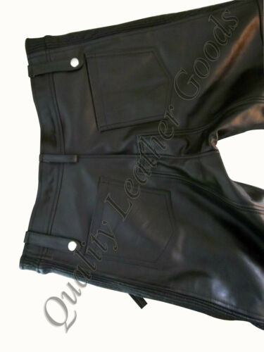 BESPOKE GENUINE PREMIUM LEATHER MENS JEANS WITH SPANDEX PANTS TROUSERS BREECHES