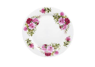 KIRSTY JAYNE CHINA 20.5CM Bone China Set of 6 DOT ROSE BREAKFAST PLATE