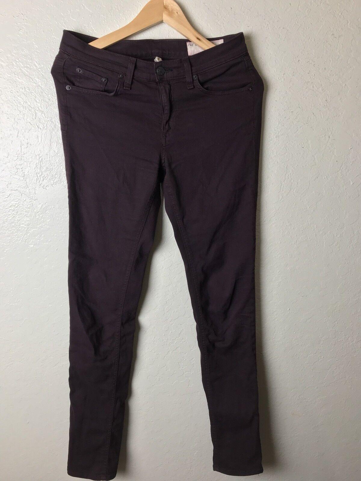 Rag And Bone Women's Purple Skinny Jeans 27 X 30.5