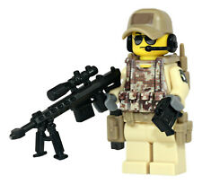 WW2 US Airborne 82nd Soldier Made With REAL LEGO® Minifigure Parts