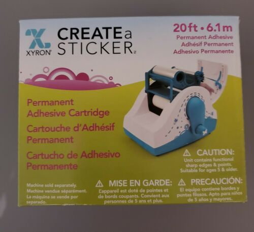 NEW  XYRON CREATE A STICKER  REPLACEMENT  ADHESIVE CARTRIDGE 20 FT  6.1M