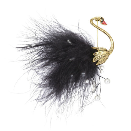 Unisex Cute Faux Pearl Feather Bird Animal Brooch Pin Shirt Lapel Jewelry Gift P