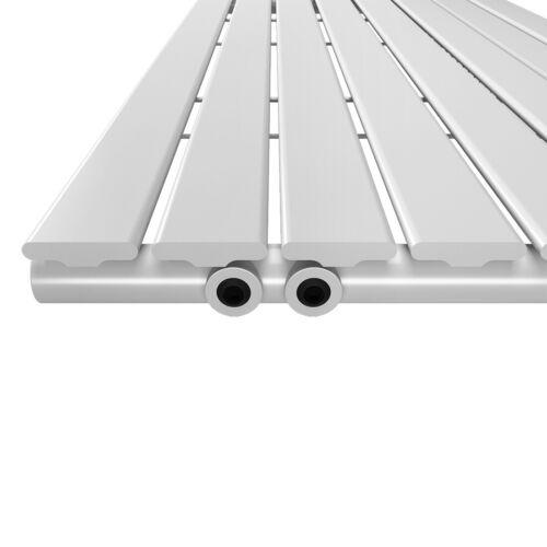 Design Paneelheizkörper Horizontal Flachheizkörper Badheizkörper Anthrazit Weiß
