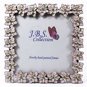 Bejeweled-floral-pattern-photo-frame-enamel-painted-with-crystals-in-pink-3x3