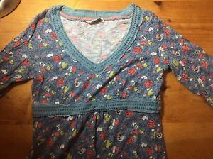 Boden-Ladies-Dress-Size-12-Blue-Floral
