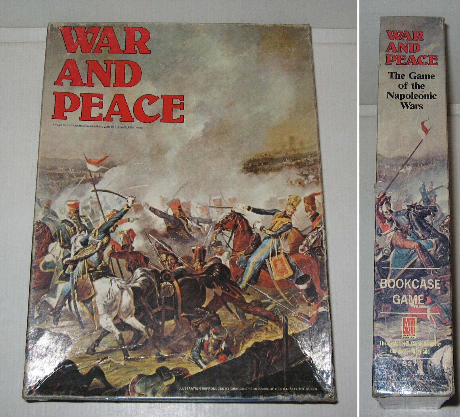 JEU,WAR & PEACE,AVALON HILL 1980,TBE,VGC,WARGAME,NAPOLEON,UNPUNCHED COUNTERS