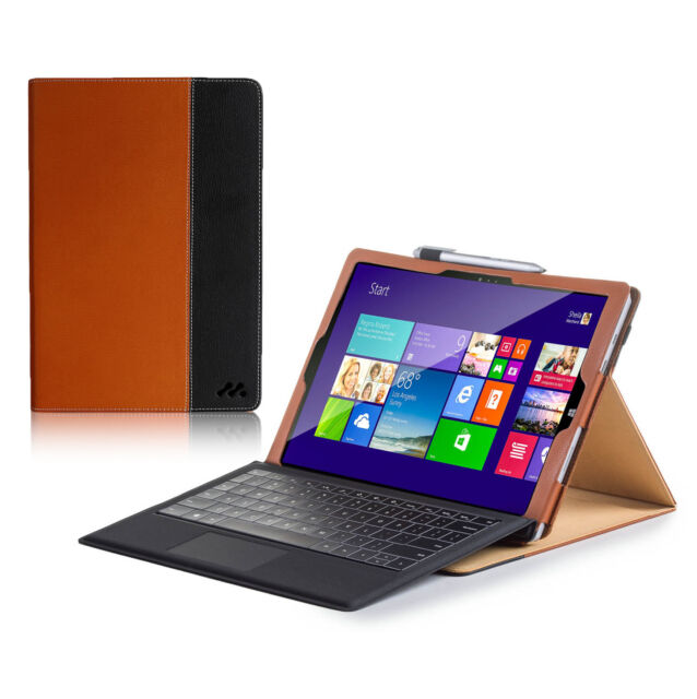 Manvex Leather Case for the NEW Microsoft Surface PRO 3 Tablet - Brown/Black