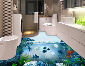 3D Seabed Fish 6253 Floor WallPaper Murals Wall Print 5D AJ WALLPAPER AU Lemon