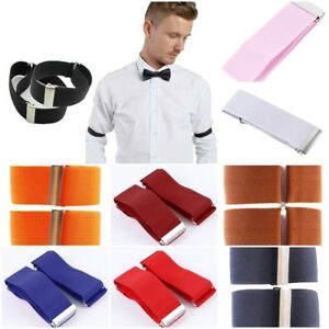 Creative 1 Pair Lady Men Blouse Sleeve Holders Garter Elastic Arm Band 13 Colors