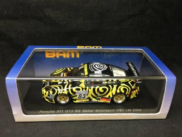 Spark-BAM 1 43 Porsche 911 GT3 RS  83 Le Mans 2004 BAM002