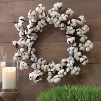 Newraz Imports24 Spring Cotton Boll Twig Wreatheaster/country/farmhouse