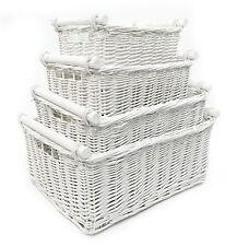 Big Large Deep Kitchen Log Wicker Storage Handle Xmas Empty Gift Hamper Basket