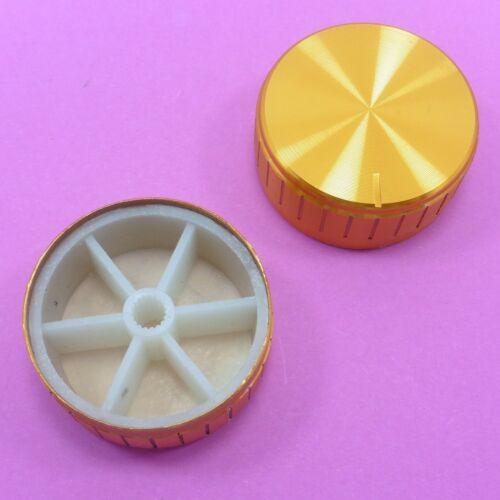 Aluminum Potentiometer Control Cap 40x17mm Plastic Knob for 6mm Shaft