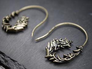 Earrings-Earrings-Indian-Goddess-Tara-Sarasvati-Hindi-Boho-Bronze