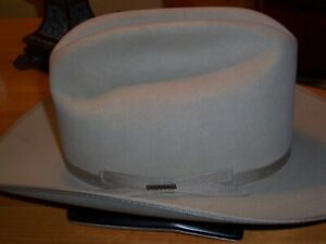 76da37b8dae Stetson Cowboy Mens 4X Beaver Felt Silverbelly Open Road 54 or 6 3 4 ...