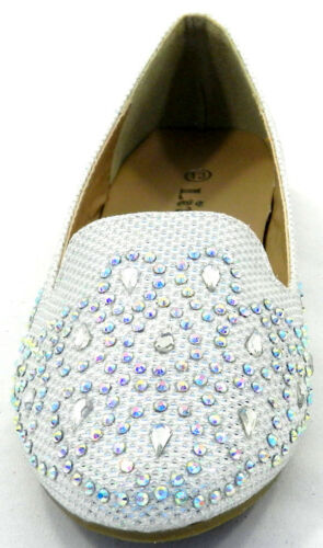 Small Run Kids Girls Flat Loafers Ballerina Glitter Dolly Slip On  Shoes Sz 9-4