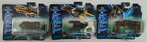 TRON LEGACY : 3 VEHICLES : GRID LIMO, RECOGNIZER, CLU'S COMMAND SHIP (DEL)
