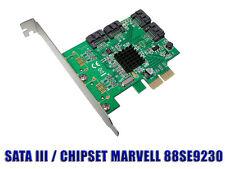 Controleur PCIE RAID SATA III  6GB /// 4 PORTS /// MARVELL 88SE9230