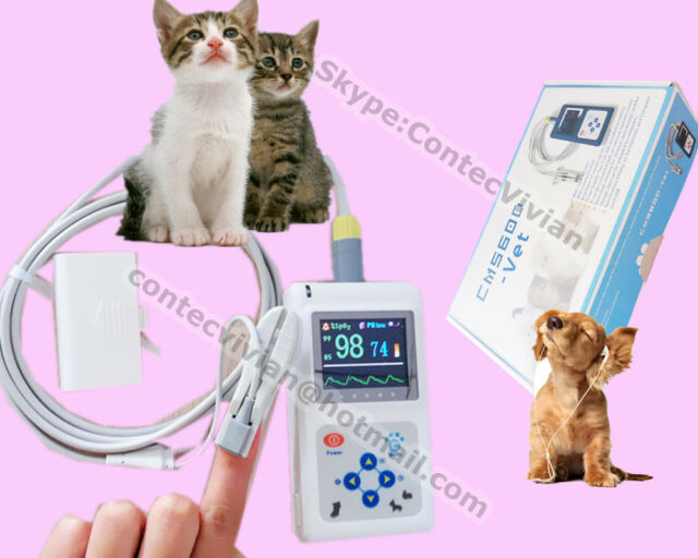 2017 New Veterinary Finger Pulse Oximeter SPO2 Pulse Rate VET probe PC Software