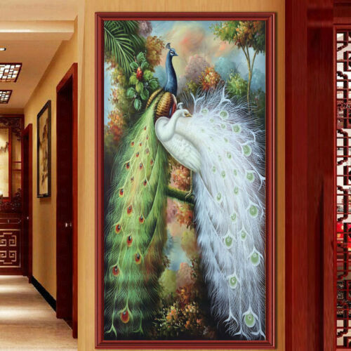 Animal DIY 5D Diamond Painting Full drill Lovers Peacock Embroidery 874Y