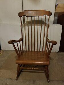 Tremendous Details About Vintage S Bent Bros Colonial Rocking Adult Chair Antique Excellent Condition Machost Co Dining Chair Design Ideas Machostcouk