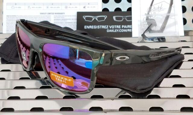 2822a66a6f New Oakley 9361-0357 CROSSRANGE Sunglasses Gloss Carbon w  Prizm Trail  Lenses