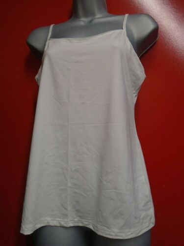 TWO white camisole tops with mesh trim size 16 /& 20