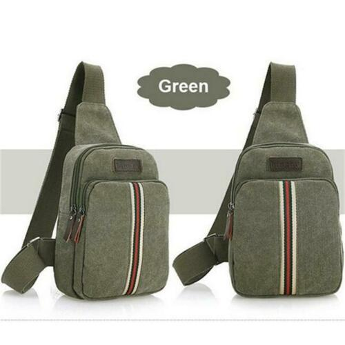 Zipper Body Cross Chest Satchel Men Canvas Sport Single Shoulder Pack Bag SL