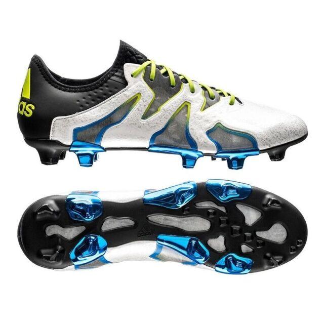 official photos 09064 621d4 Mens Adidas X 15 + SL FG AG Soccer Cleats White Black Blue AF4693 Superlight