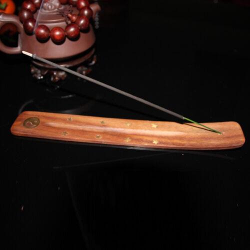 Fine Wooden Incense Stick Holder Burning Joss Insence Ash Catcher Burner #JIN