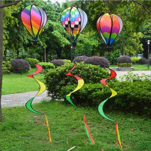 Hot-Air-Balloon-Wind-Spinner-with-Rainbow-Stripe-Garden-Yard-Outdoor-FD