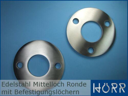 Edelstahl Ankerplatte Ronde für Rohr Geländerpfosten Halteplatte Grundplatte V2A