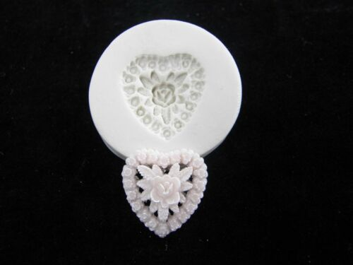 Flower Heart Polymer Clay Mold #MD1041
