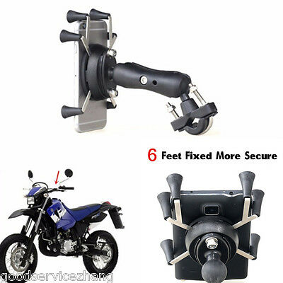 3.5-6'' 6 Feet Mount Holder Motorcycle Bicycle Bike Handlebar For Cell Phone GPS